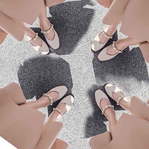 Talons Boucle Mot Tête unie Couleur De Talon Square Femme Pearl Printemps Chaussures Un Automne SHOESHAOGE D'Une qXwU74qTx