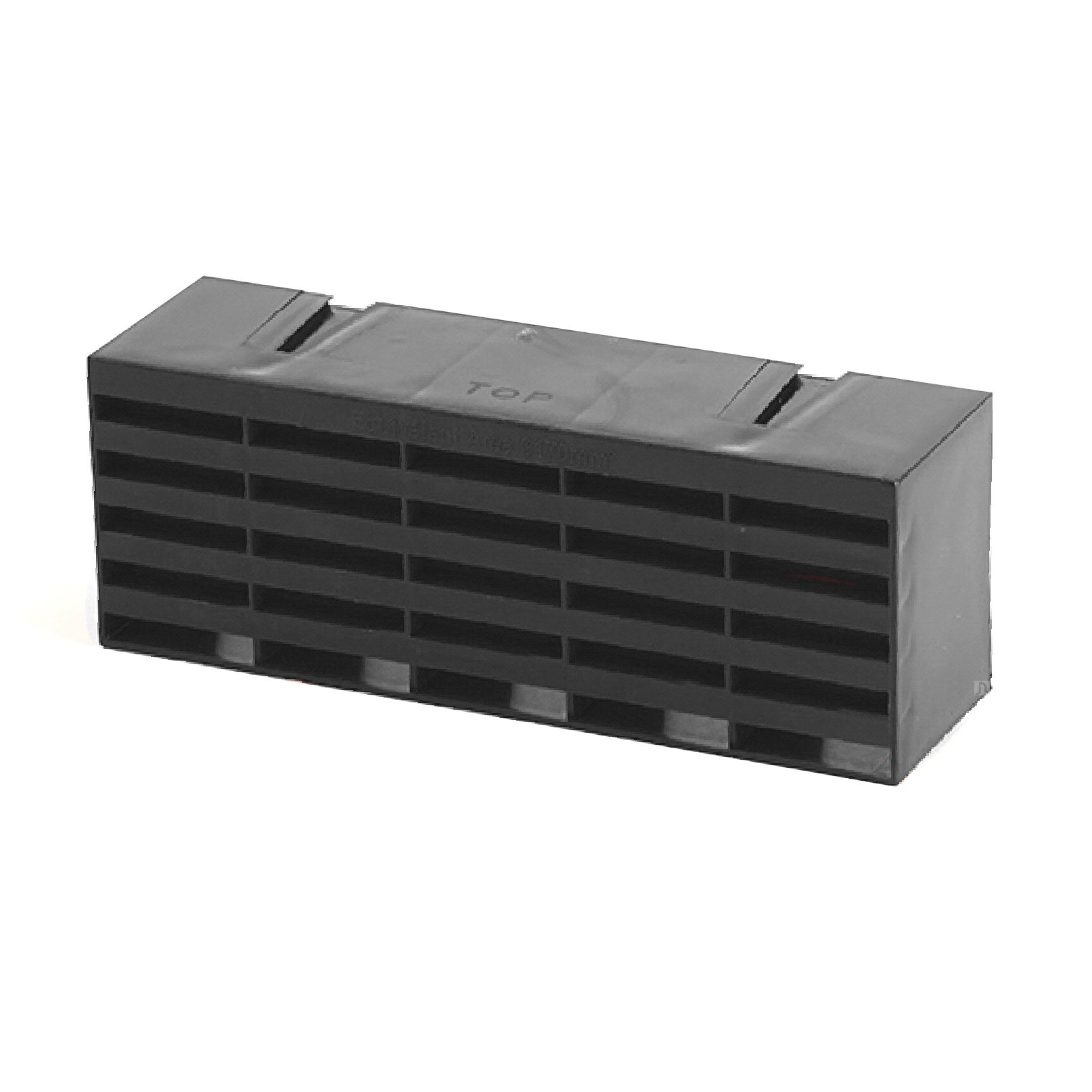 5 x Black Air Bricks Vent 9''x 3'' Airbrick Grille Air Flow Brick Ventilation