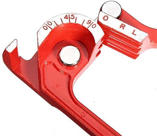 8mm Macchina piegatubi manuale tre in uno della curvatubi del tubo 180 gradi metrici 6mm 10mm piegatubi del tubo rosso