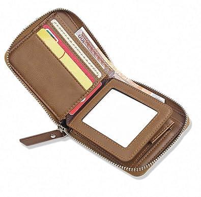 b58bb5458ebb Amazon   DSGUAN 財布 メンズ 二つ折り 本革 小銭入れ 防水人気 軽量 ...