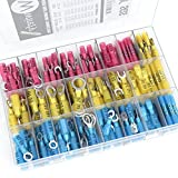 270 PCS Heat Shrink Wire Connector Kit Electrical Insulated Crimp Marine Automotive Terminals Set
