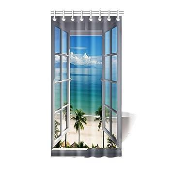 Amazon Com Hommomh 36 X 72 Shower Curtain With Hooks Bathroom