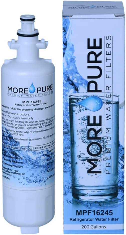 MORE Pure MPF16245 Refrigerator Water Filter Compatible with LG LT700P, Kenmore Elite 46-9690