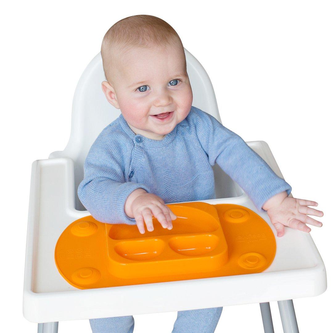 EasyMat Plaque d'aspiration Portable pour bébé (Orange) EasyTots