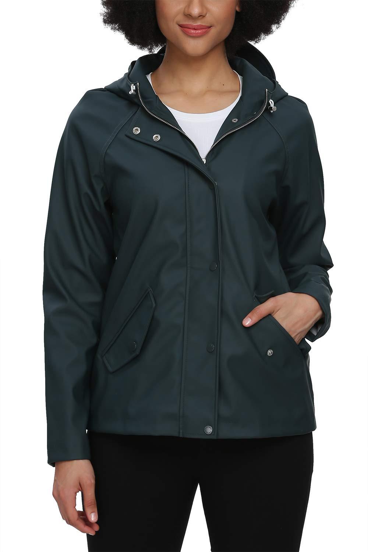 Fahsyee Rain Jacket Women Rain Coat Waterproof Raincoat Hooded Windbreaker Outdoor Long Active