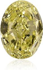 10.10 Carat Fancy Intense Yellow Loose Diamond Natural Color Oval Shape GIA Cert