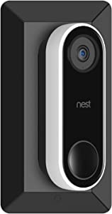 Aobelieve 35° Angle Mount and Wall Plate for Google Nest Hello Video Doorbell - Black