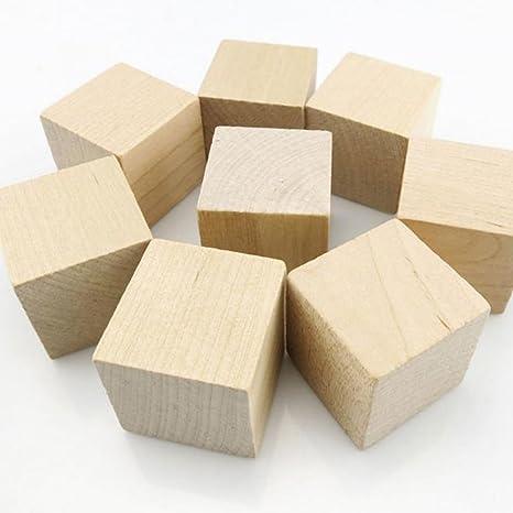 Cubi In Legno.Wingoneer 12pcs Cubi Di Legno Blocchi Di Legno Di 40 Millimetri Di Legno Per La Fabbricazione Di Puzzle I Mestieri E Progetti Di Fai Da Te