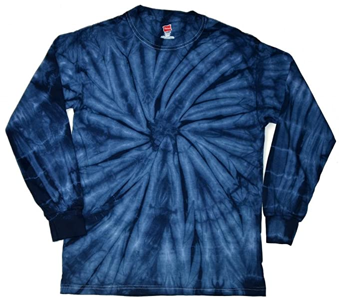 52a91094214d16 Buy Cool Shirts Mens Tie Dye Shirt Spider Navy Blue Long Sleeve T-Shirt 3XL