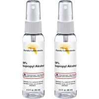 Isopropyl Alcohol Spray 2.30 oz Pure Grade 99% Sterilizer - Sterilizing Solution and Microneedling Cleaning - Antiseptic - Desinfects - Clean (Pack of 2)