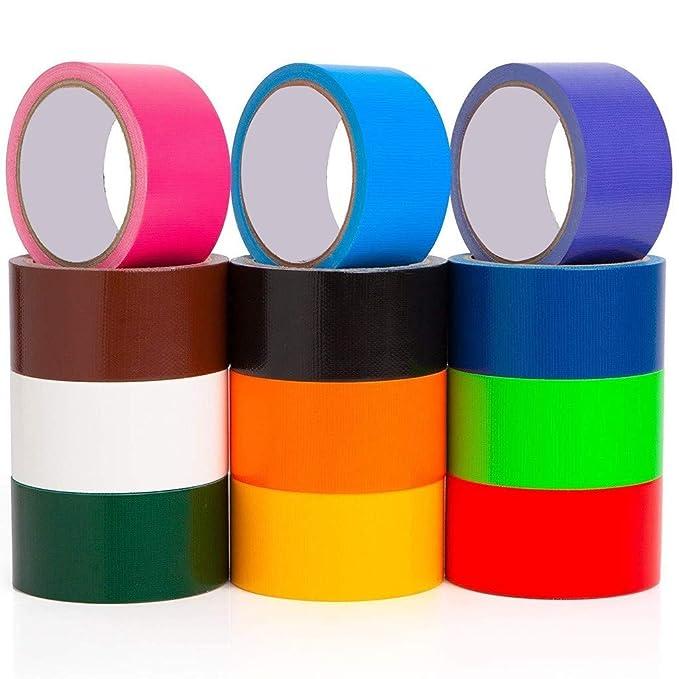 Amazon.com: Cinta de conducto multicolor, 12 colores, 10 ...