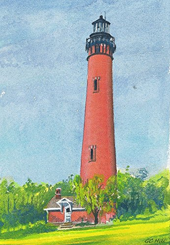 - Currituck Beach Lighthouse, Corolla, Outer Banks, North Carolina, by Gerald C. Hill. Matted Watercolor Art Prints