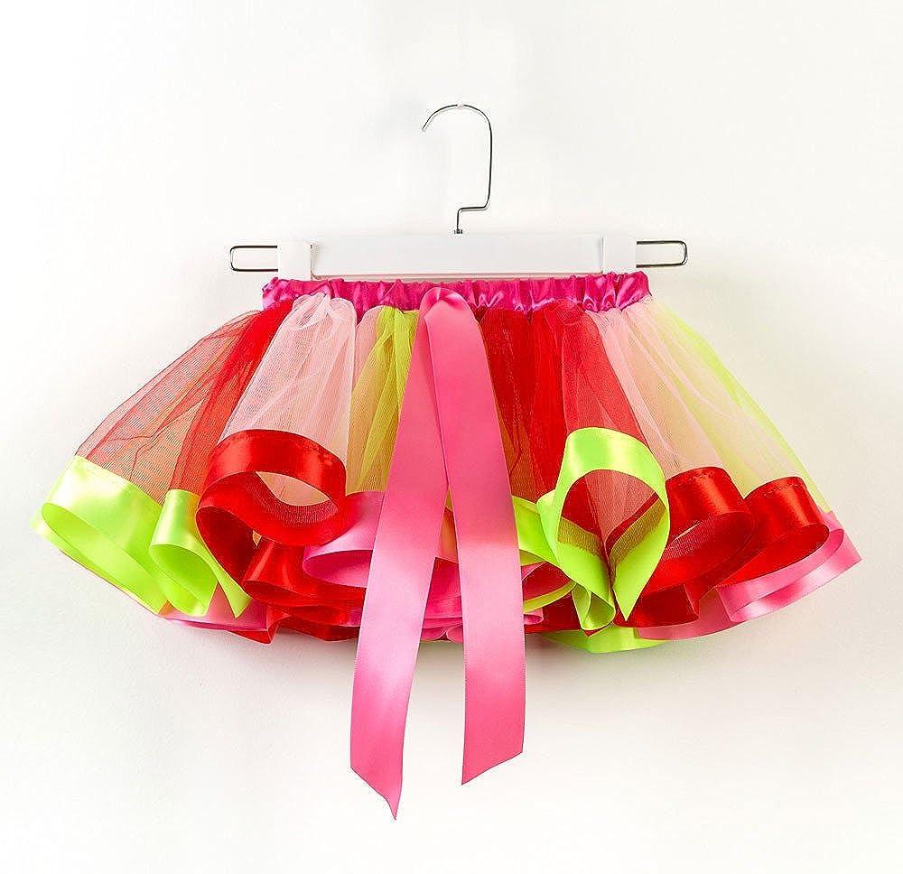 kaifongfu Girls Kids Tutu Skirt Party Dance Ballet Toddler Baby Costume Skirt+Bow Hairpin Set 4-10 Years