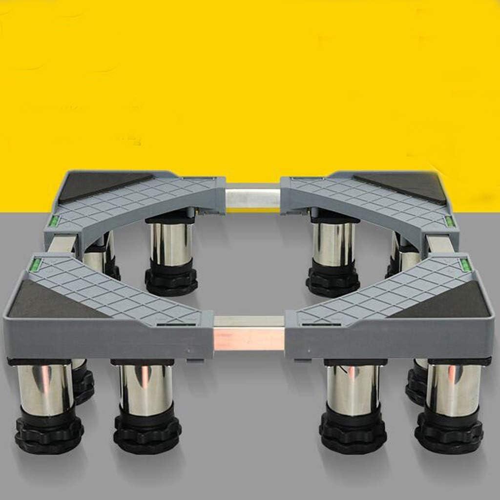 YBJPshop 洗濯機ベース 12足ブラケットステンレス鋼メタルベース洗濯機耐震ベースドライヤーベース 滑り止めブラケットベースブラケット、滑り止め (Size : H14-17cm)
