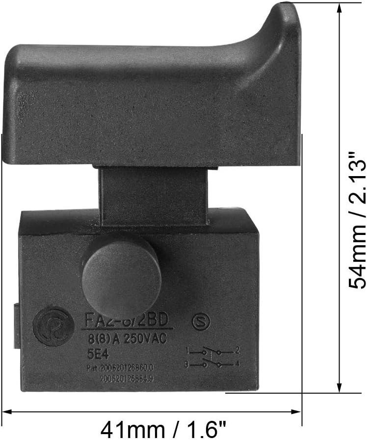 sourcing map Interruptor El/éctrico de Amoladora de /ángulo Leiya 125//150 AC250V 8A Herramienta de control