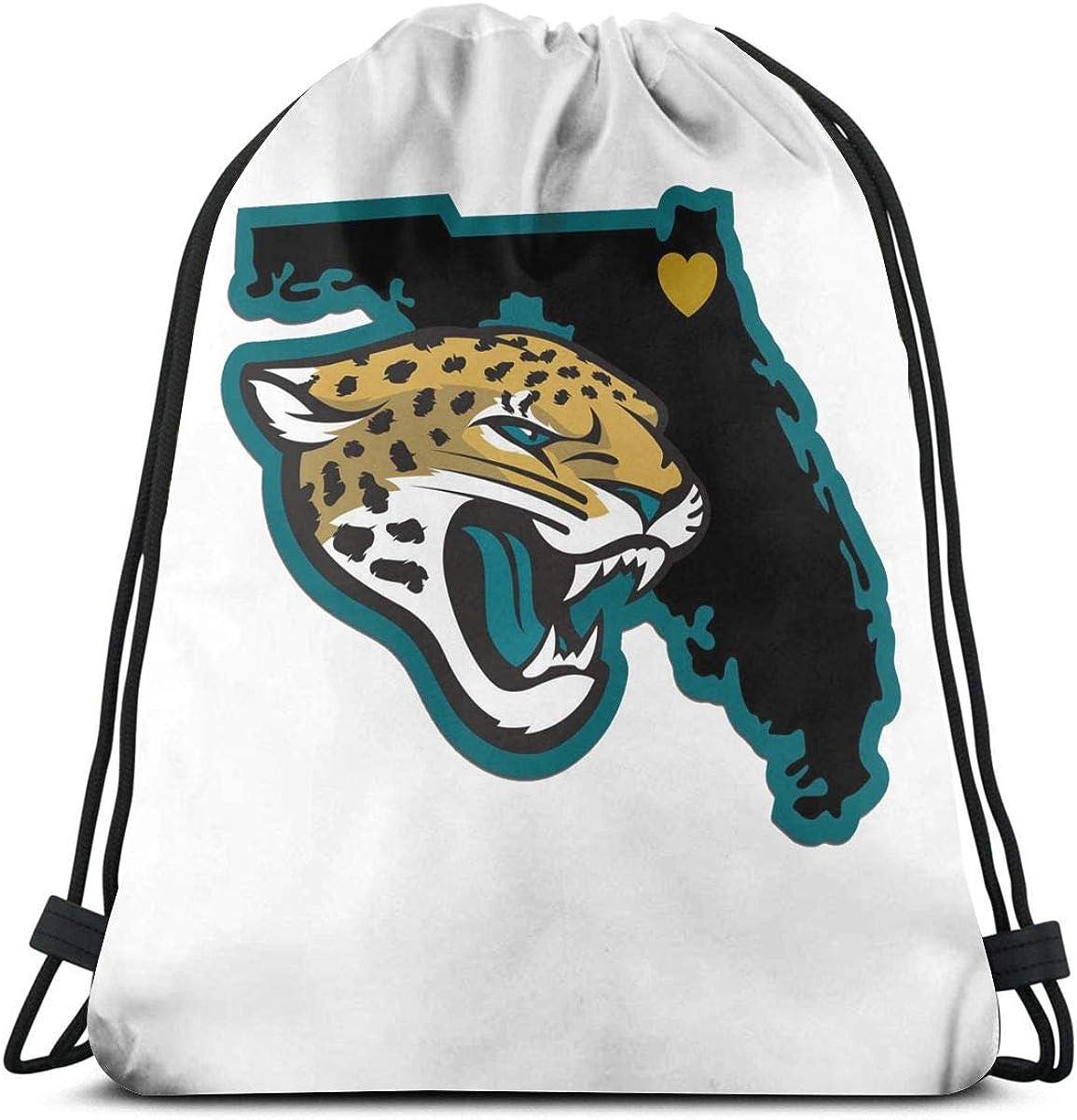 Griffithnelle Elegant Travel Hiking Backpack Jacksonville Jaguars Drawstring Bags Gym Bag