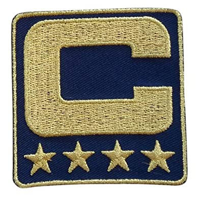 finest selection 04330 db8a5 Navy Blue Captain C Patch (All Gold) Iron On for Jersey Football, Baseball.  Soccer, Hockey, Lacrosse, Basketball