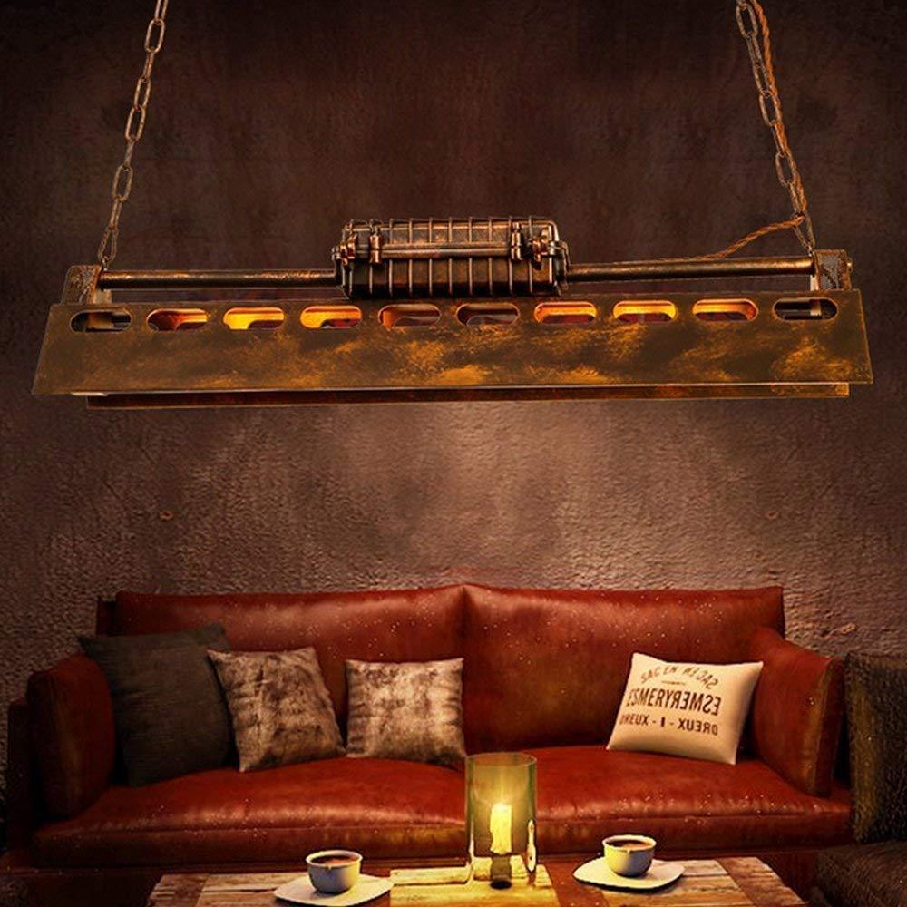 Industrial Pendant Light 4 Light Metal Rustic Chandelier Adjustable Vintage Hanging Ceiling Lighting Fixtures for Home Kitchen Restaurant by KJLARS (Image #2)