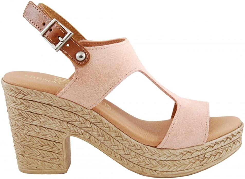 Sandalia tacón Alto Piel Nude - Benavente: Amazon.es: Zapatos y ...