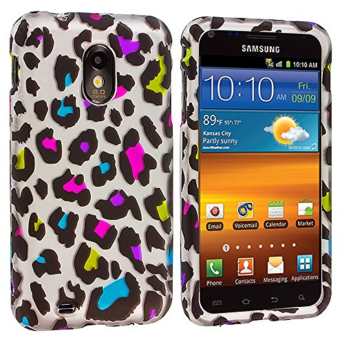 Samsung Sprint Galaxy S2 Case, TechSpec(TM) Colorful Leopard Hard Rubberized Design Case Cover for Samsung Epic Touch 4G D710 Sprint Galaxy S2