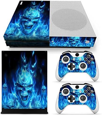 XBOX ONE S Skin Design Foils Pegatina Set - Blue Skull Motivo ...