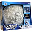 Uncle Milton Super Moon In My Room Remote Control Wall Décor Night Light with Sound
