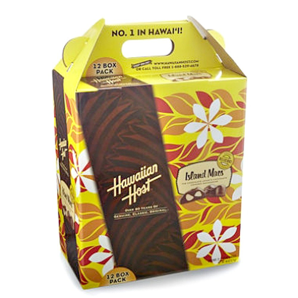 Hawaiian Host Island Macs Tiare Milk Chocolate Covered Macadamia Nuts 5 oz Boxes (12 Boxes)
