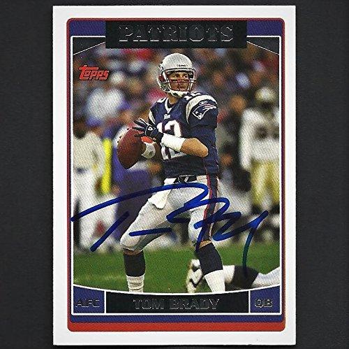 Topps Tom Brady Autograph Signed 2006 Card #150 Patriots Nice! - Nice Autograph
