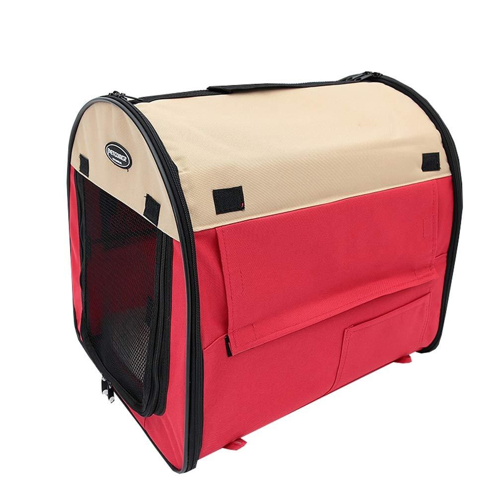 ペットテントトラベルバッグ折りたたみ洗えるペット猫キャリアポータブルネスティング犬の洞窟ベッド付き豪華なマット3色 (色 : 緑, サイズ さいず : 61x46x51cm) B07NWDM9XH 赤 81x56x66cm 81x56x66cm|赤