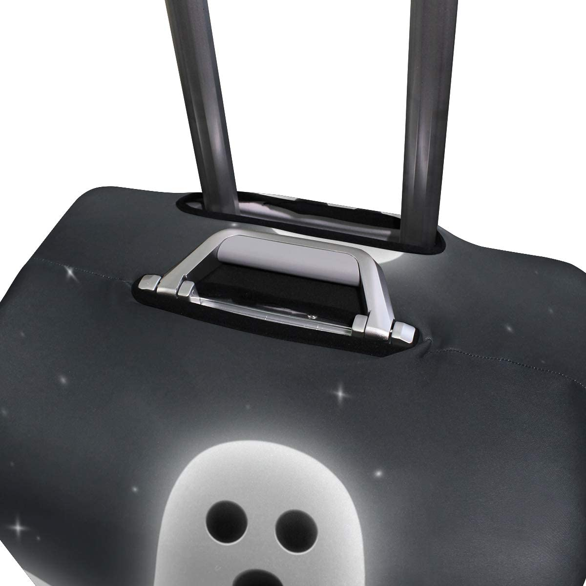 FOLPPLY Halloween Cute Ghost Luggage Cover Baggage Suitcase Travel Protector Fit for 18-32 Inch