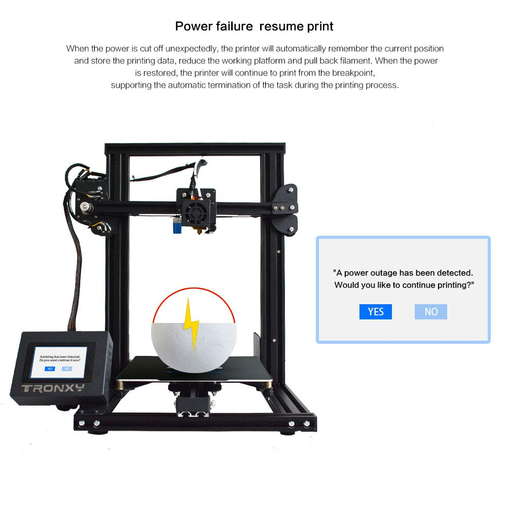 TRONXY XY-2 3D Printer Semi-Assembled with Automatic Leveling Filament Sensor and Power Resume All Metal Frame Adjustable by Eccentric Nuts 220X220X260 XY-2-auto Level