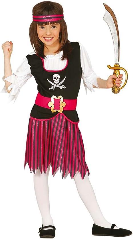 Traje novia bucanero infantil Disfraz pirata niña M 128/140 cm ...