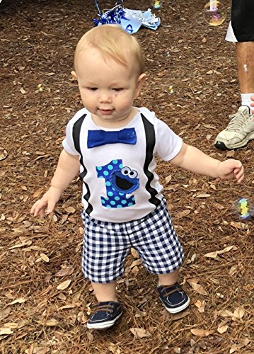 Perfect Pairz Baby Boys 1st Birthday Outfit Monster Bodysuit