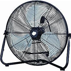 """PMX 20"""" High Velocity Floor Fan, Metal, black (HV-20K) (black),fan, floor fan, electric fan"""