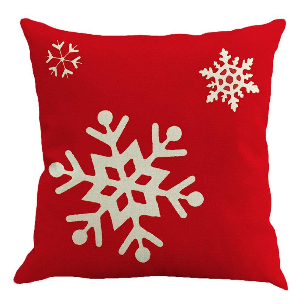 Reooly Funda de Almohada de Cubierta de Feliz Navidad de 4 ...