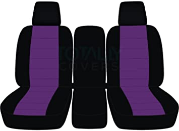 Enjoyable 2004 2008 Ford F 150 Two Tone Truck Seat Covers Front 40 20 40 Split Bench With Center Console Armrest W Wo Integrated Seat Belts Black Purple Forskolin Free Trial Chair Design Images Forskolin Free Trialorg