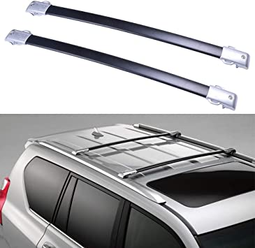 ROADFAR 38 Roof Rack Aluminum Top Rail Carries Luggage Carrier Fit for 2010 2011 2012 2013 2014 2015 2016 2017 Chevrolet Equinox//GMC Terrain Baggage Rail Crossbars