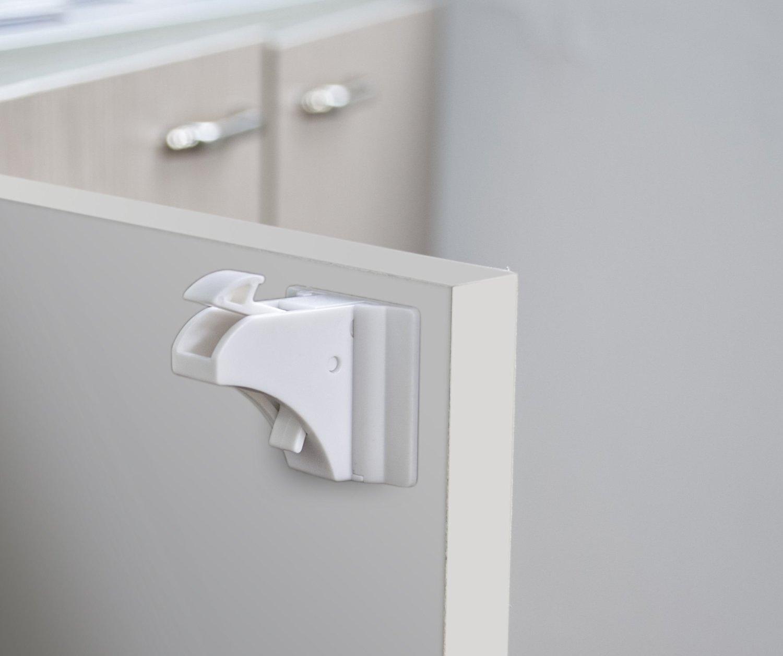 Hidden Drawer Lock Baby Proofing Magnetic Cabinet Lock Set Balfer Child Safety Locks