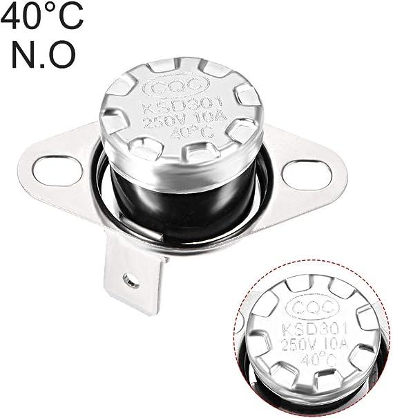 Termostato de 90 a 180 /°C 194-356 /°F interruptor de control t/érmico de temperatura 90 100 110 120 130 140 150 160 170 180 /°C Sourcingmap NO KSD301