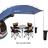 LAPUTA Waterproof Teardrop Trailer Awning Portable Car SUV Awning Tent Sun Shelter Canopy for Camping