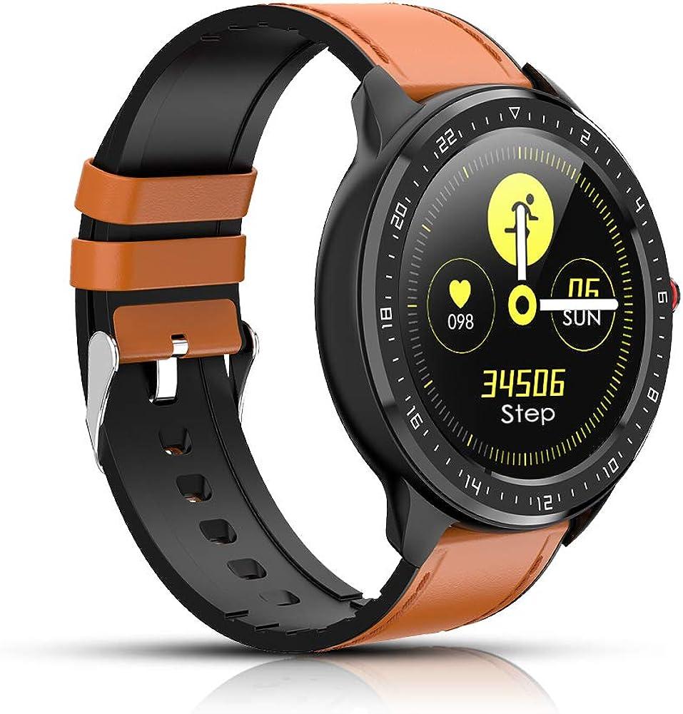Reloj Inteligente, rastreador de Actividad física con frecuencia cardíaca, Pantalla a Color, podómetro Bluetooth Smartwatch, notificación de Llamadas por para iOS y Android