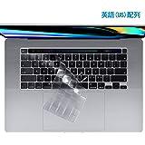 A-VIDET MacBook Pro 16 インチ キーボードカバー 英語 (US)配列版 MacBook Pro 16 2019 保護フィルム【1枚パック】極薄 耐磨 透明 保護フィルム MacBook Pro 16 2019 A2141 に適用(半透明)