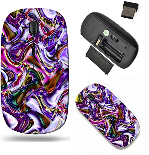 (Liili Wireless Mouse Travel 2.4G Wireless Mice with USB Receiver, Click with 1000 DPI for notebook, pc, laptop, computer, mac book Geometric abstract ornament multicolored A wonderful harmony of)