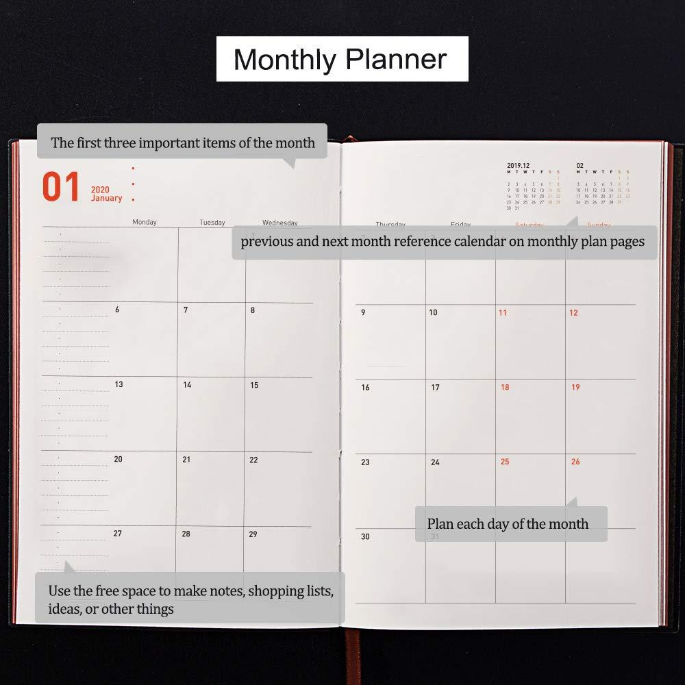 Amazon.com: Planificador de día 2020, semanal, mensual, A5 ...