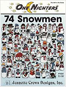 Snow folks at Home   Counted cross stitch pattern book from Jeanette Crews Designs