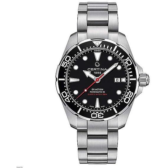 Certina C032.407.11.051.00 DS Action - Reloj automático de Pulsera para Hombre, Acero de 43 mm: Amazon.es: Relojes