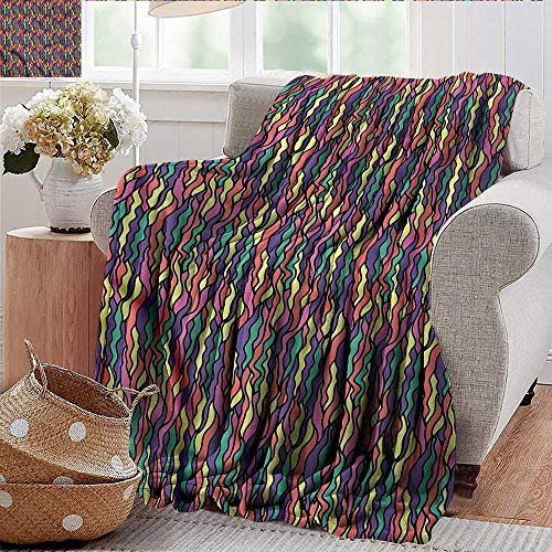 - Xaviera Doherty Flannel Throw Blanket Colorful,Stained Glass Pattern for Bed & Couch Sofa Easy Care 60