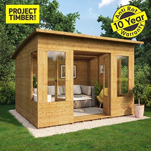 Proyecto madera verano de madera Garden Summerhouse OSB suelo ...