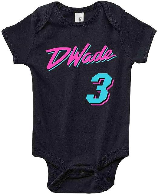 3197222d5 Amazon.com: Prospect Shirts Black Miami Wade Vice City Baby 1 Piece ...