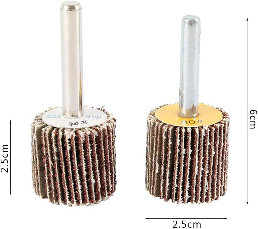 Utensile Rotante 10pz Ruota di Carta Vetrata 80 e 40 Grana,Carta Abrasiva Lucidatura Ruota per Trapano,Smerigliatrice